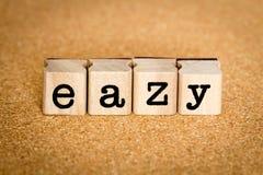 Concetti di Eazy Immagine Stock Libera da Diritti