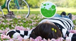 Concetti di ecologia Fotografia Stock Libera da Diritti