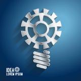 Concetti di idee di affari che caratterizzano ingranaggio leggero Fotografia Stock