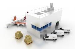 Concetti di industria di logistica Immagini Stock Libere da Diritti