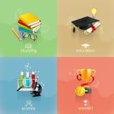 Concetti di istruzione, insieme di vettore illustrazione vettoriale
