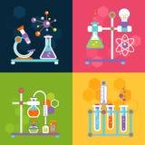 Concetti di progetto di chimica royalty illustrazione gratis