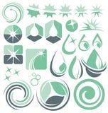 Concetti di progetto di logo di pulizia e dell'acqua Fotografie Stock Libere da Diritti