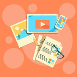 Concetti di progetto piani per l'introduzione sul mercato contenta Immagine Stock