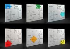 Concetti di puzzle illustrazione vettoriale