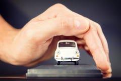 Concetti di rinuncia di danno di collisione e dell'assicurazione auto Fotografie Stock Libere da Diritti