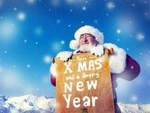 Concetti di Santa Claus Christmas New Year Scroll immagini stock libere da diritti