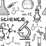 Concetti di scienza e di chimica senza cuciture Immagine Stock