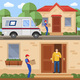 Concetti di servizio postale illustrazione di stock