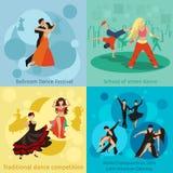 Concetti di vettore di stili di dancing fissati illustrazione di stock