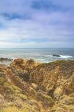 Concetti di viaggio Vista affascinante della linea costiera pacifica Immagini Stock Libere da Diritti
