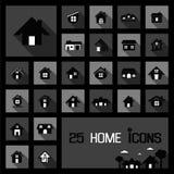 Concetti domestici delle icone Fotografia Stock