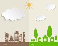 concetti ecologici Fotografie Stock