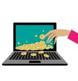 Concetti per il commercio elettronico illustrazione di stock