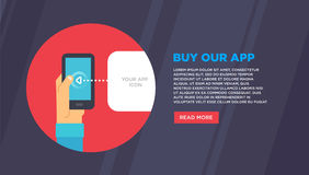 Concetti piani dell'illustrazione di progettazione per il email mobile Fotografia Stock