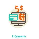 Concetti piani dell'illustrazione di vettore di progettazione di online Immagine Stock