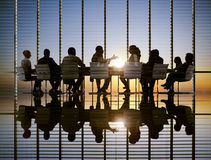 Concetti professionali di strategia di Sun di riunione d'affari fotografia stock libera da diritti