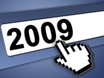 concetto 2009 del Internet Fotografia Stock