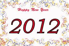 Concetto 2012 di nuovo anno felice Fotografia Stock