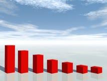 concetto 3d della crisi finanziaria Immagine Stock Libera da Diritti