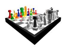 concetto 3d di scacchi variopinti Immagine Stock Libera da Diritti