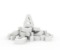 concetto 3D per il vostro blog Fotografie Stock Libere da Diritti