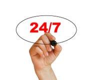 Concetto 24/7 Immagine Stock Libera da Diritti
