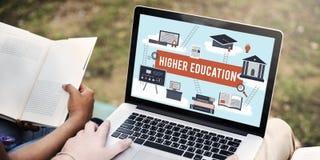 Concetto accademico dell'aiuto economico del celibe di istruzione superiore Fotografie Stock Libere da Diritti