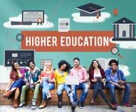 Concetto accademico dell'aiuto economico del celibe di istruzione superiore Immagine Stock Libera da Diritti