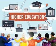 Concetto accademico dell'aiuto economico del celibe di istruzione superiore Fotografia Stock