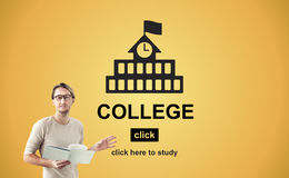 Concetto accademico dell'università di conoscenza di insegnamento superiore Immagine Stock