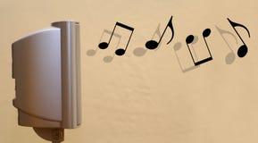 Concetto ad alta fedeltà 1 di musica dell'altoparlante di bordi Fotografia Stock