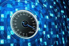 Concetto ad alta velocità di tecnologie informatiche del collegamento a Internet, di prestazioni di rete e Fotografia Stock