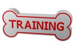 Concetto: addestramento di cani rappresentazione 3d Fotografia Stock