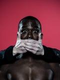 Concetto africano di libertà di parola dell'uomo Fotografia Stock Libera da Diritti