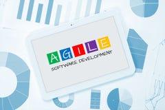 Concetto agile di sviluppo di software Immagine Stock Libera da Diritti