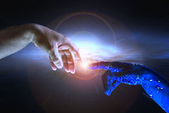 Concetto AI di intelligenza artificiale ed umanità Immagine Stock