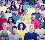 Concetto allegro del sostegno comunitario di lavoro di squadra della gente di diversità Fotografia Stock