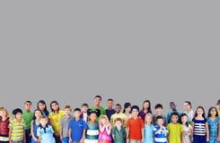 Concetto allegro della gioventù di infanzia di felicità dei bambini dei bambini Fotografia Stock Libera da Diritti
