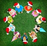 Concetto allegro di diversità di infanzia dei bambini dei bambini Fotografia Stock