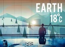 Concetto ambientale di conservazione di ecologia di clima della terra Fotografia Stock Libera da Diritti