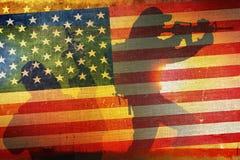 Concetto americano della bandiera dell'esercito Immagini Stock Libere da Diritti
