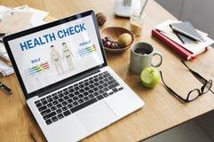 Concetto annuale di biologia del corpo di controllo del controllo sanitario Fotografia Stock Libera da Diritti