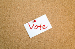 Concetto appiccicoso di voto della nota immagini stock