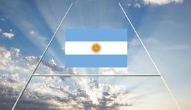 Concetto argentino di rugby Immagini Stock Libere da Diritti