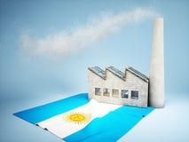 Concetto argentino di sviluppo di industria Immagini Stock Libere da Diritti