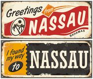 Concetto artistico di Nassau Bahamas illustrazione vettoriale