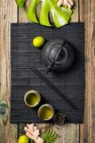 Concetto asiatico del tè fotografia stock libera da diritti