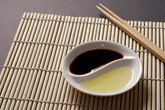 Concetto asiatico dell'alimento con lo spazio della copia Immagine Stock