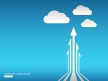 Concetto astratto con le frecce e le nuvole Fotografia Stock